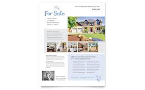 home for sale template real estate listing flyer template design