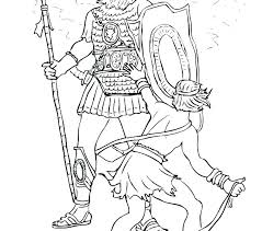David And Goliath Coloring Pages Pdf Page Fight Trend Goli