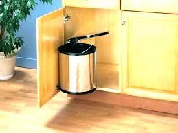 kitchen trash bin cabinet in cabinet trash can kitchen trash can brown cabinet pull out garbage