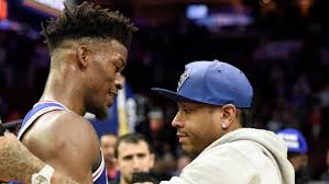 allen iverson jimmy butler share moment after sixers win nbc 10 philadelphia