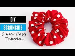 a scrunchie diy scrunchie tutorial