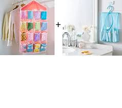 4square <b>16</b> Pockets Clear Door <b>Hanging</b> Storage Bag 1pc with 1Pcs ...