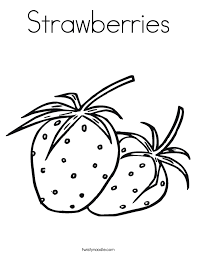 Strawberries Coloring Page Twisty Noodle