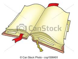 open book on white background color ilration colored clipart drawing