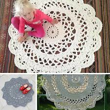Free Crochet Rug Patterns Adorable Giant Area Rugs Free Crochet Patterns Knit And Crochet Daily