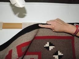 how to hang a rug on the wall with velcro