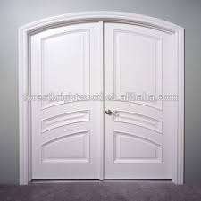 white double front door. White Arched Top Double Front Entry Door