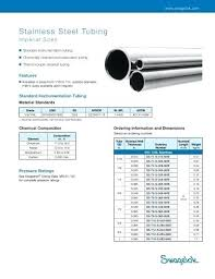 Stainless Steel Tubing Dimensions Cartin Co
