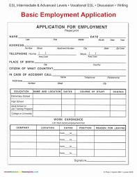 Employment Employmentpplication Form Template Employee Free
