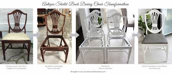 AM Dolce Vita Antique Shield Back Chair Transformation - Shield back dining room chairs