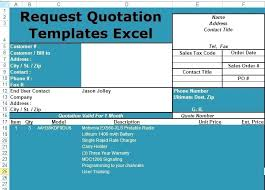 Quote Format Amazing Excel Quotation Request Templates Sample Download Template Free