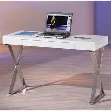 white gloss office desk. mayline laptop office desk in high gloss white_2 white s
