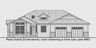 house front drawing elevation view for 10163 one story house plans ranch house plans