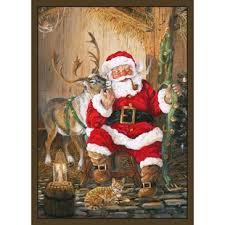 santa and reindeer area rug christmas area rugs77