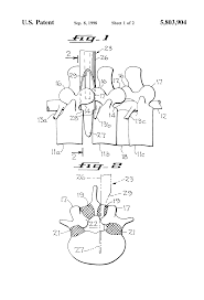 patent us nerve root retractor and disc space separator patent drawing