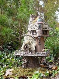 A Fairy House This One Is Amazingly Detailed Built On Stump Base And Well  Incorporated Into The Landscape  Amazing Inspiration