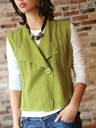 Modern Sewing Patterns Adorable Women's Clothing Sewing Patterns Modern Silhouette Vest Sewing Pattern