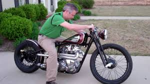 kustom 1969 triumph bobber black adder built by dan patterson