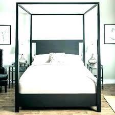 black wood canopy bed – gogeek