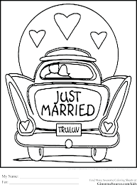 wedding coloring book template printable vity for kids pages free personalized