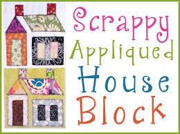 Scrappy Appliqued House Block ,free patterns | Quilts For All ... & Scrappy Appliqued House Block ,free patterns Adamdwight.com