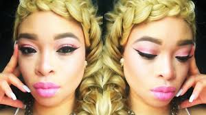 prom 2016 princess pink gold glitter glam makeup hair the heathers nowchic