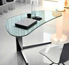 Modern Glass Top Desk Style