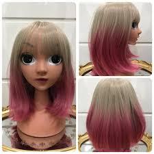 วกผม บอบสน ตรง หนามา Blond Korea Wig วกผม