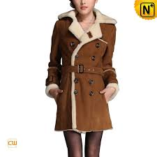 sheepskin pea coat women cw695161 jackets cwmalls com