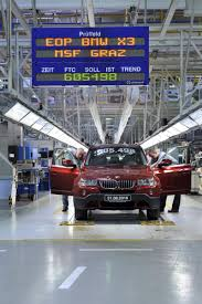 BMW Convertible bmw x3 manufacturing plant : BMW ends X3 (E83) production in Austria and begins X3 (F25 ...