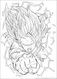 dragon ball z coloring pages page free kai printable