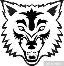 Nálepka Vlk Tvář Tetování Pixerstick