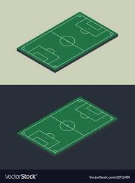 soccer field templates football soccer field isometric isolated template vector image