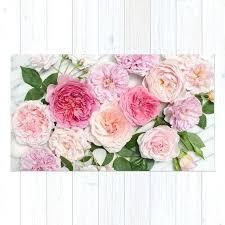 pink flowers rug roses fl blush flower round