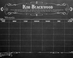 24 X 36 Distressed White Frame  Dry Erase Chalkboardlook Office Calendar Poster Personalized And Framed