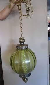 Vintage Hanging Swag Light Details About Vintage Hollywood Clear Glass Brass Hanging