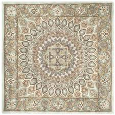 square wool rugs handmade heritage timeless traditional blue grey rug 8x8 braided country style weaving
