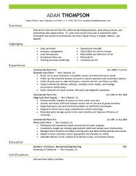 Parts Of A Resume Best Commercial Parts Pro Resume Example LiveCareer 35