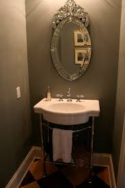considerable victorian oval mirror and bathroom classic vintage style powder room idea as wells as pedestal sink bathroom design ideas