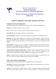 Electronics I Ii Design Project Report Format