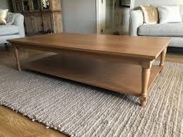 neptune solid oak large coffee table