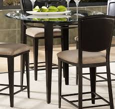 ... Dining Tables, Breathtaking Black Round Modern Glass High Top Dining  Table Varnished Design: unique ...