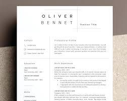 Resume Minimalist Resume Template Word Examples Bank