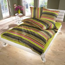 lime green stripes 100 cotton bed linen set duvet cover pillow
