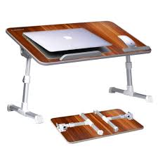 large size adjule laptop table for bed portable standing desk foldable tray