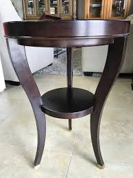 small solid wood round accent table end table for in oakland park fl offerup