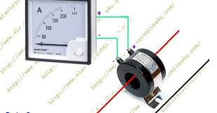 how to wire ammeter current transformer ct coil