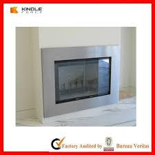 modern fireplace glass doors gallery doors design ideas