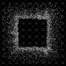 Grey Square Frame Isolated On Black Background Stock Vector Image