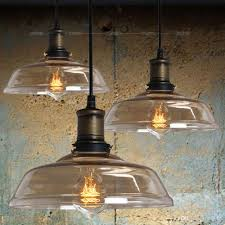 vintage country rustic amber glass dining room pendant lamp restaurant northern europe bar counter industrial pendant lights in pendant lights black